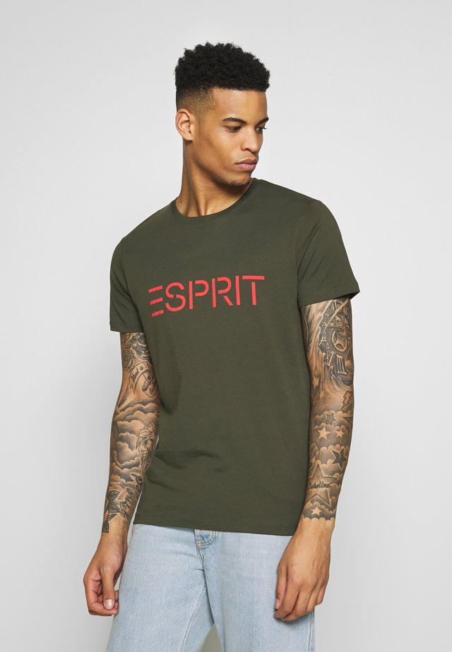 LOGO - T-shirt con stampa - olive
