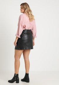 Urban Classics Curvy - LADIES ZIP SKIRT - A-line skirt - black - 2