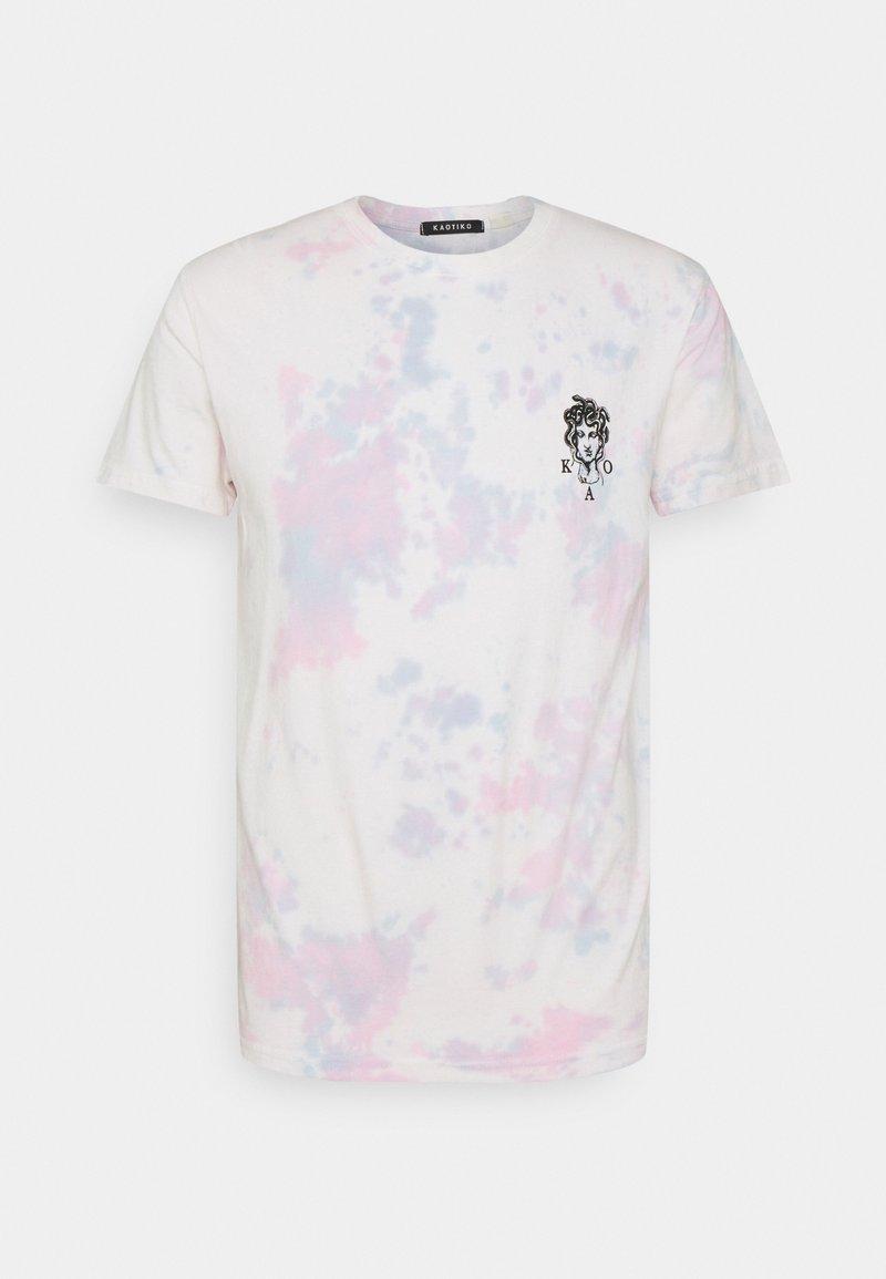 Kaotiko - TIE DYE JELLYFISH UNISEX - Print T-shirt - pink