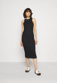 Vero Moda - VMLAVENDER CALF DRESS - Shift dress - black - 0