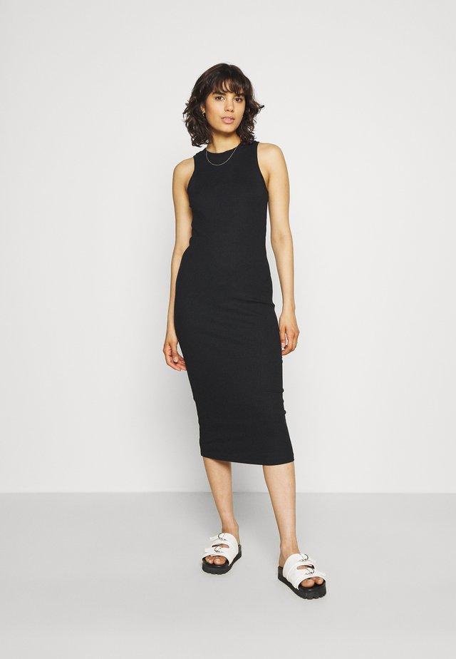 VMLAVENDER CALF DRESS - Pouzdrové šaty - black
