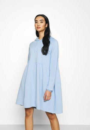 MALIN HOODIE DRESS - Day dress - blue light unique
