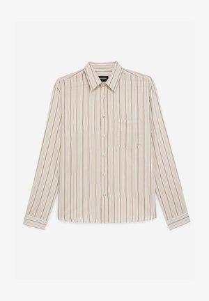 FLUIDE À RAYURES - Shirt - beige rose