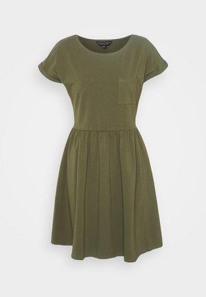 SMOCK DRESS - Džersio suknelė - khaki
