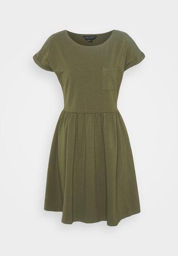 SMOCK DRESS - Jersey dress - khaki