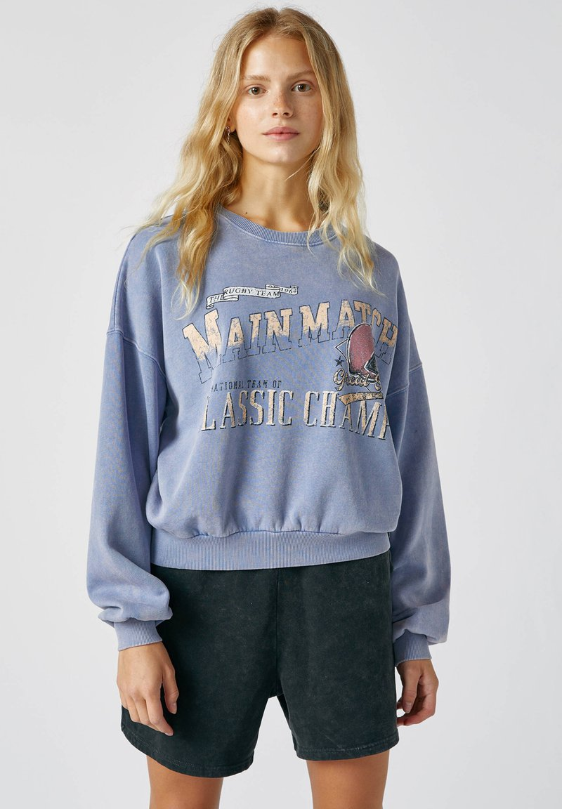 PULL&BEAR - Sweatshirts - mottled blue