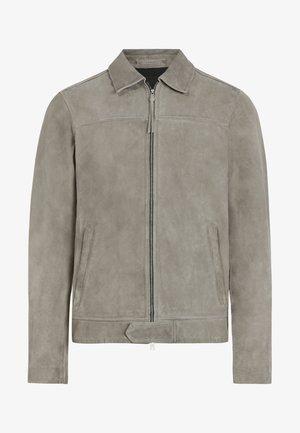 HAMPDEN - Leather jacket - grey