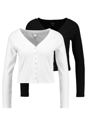 YING 2 PACK - Strickjacke - black/off white