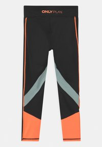 ONLY Play - ONPDANDO GIRLS - Leggings - black/gray mist/sunset orange - 1