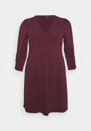 VMALBERTA VNECK DRESS - Jersey dress - winetasting