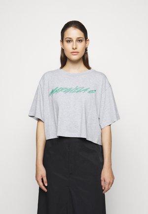 Print T-shirt - melange grey