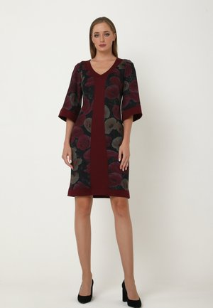 REINA - Shift dress - dark red