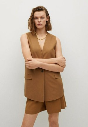 Waistcoat - halvbrun