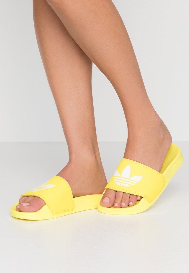 ADILETTE LITE - Mules - shock yellow/footwear white