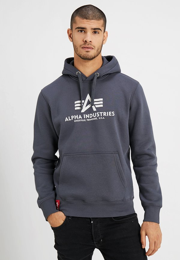 Alpha Industries Bluza z kapturem - grey/antracytowy Odzież Męska VGQY