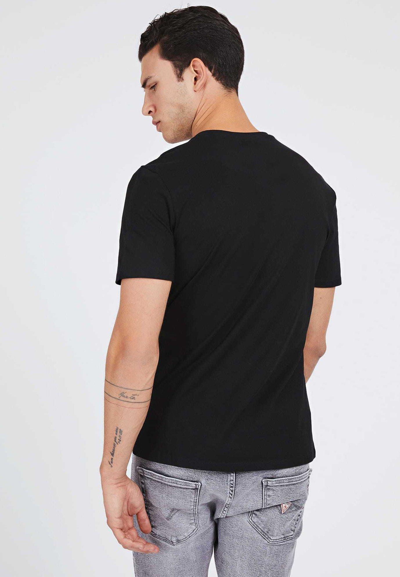 Guess T-shirt z nadrukiem - schwarz - Odzież męska Tani