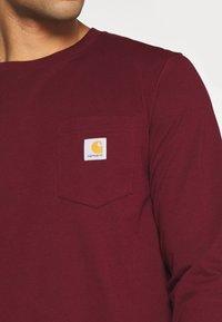 Carhartt WIP - POCKET  - Long sleeved top - bordeaux - 5