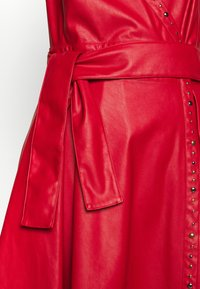 Pinko - CREATIVO ABITO SIMILPELLE - Day dress - red - 4