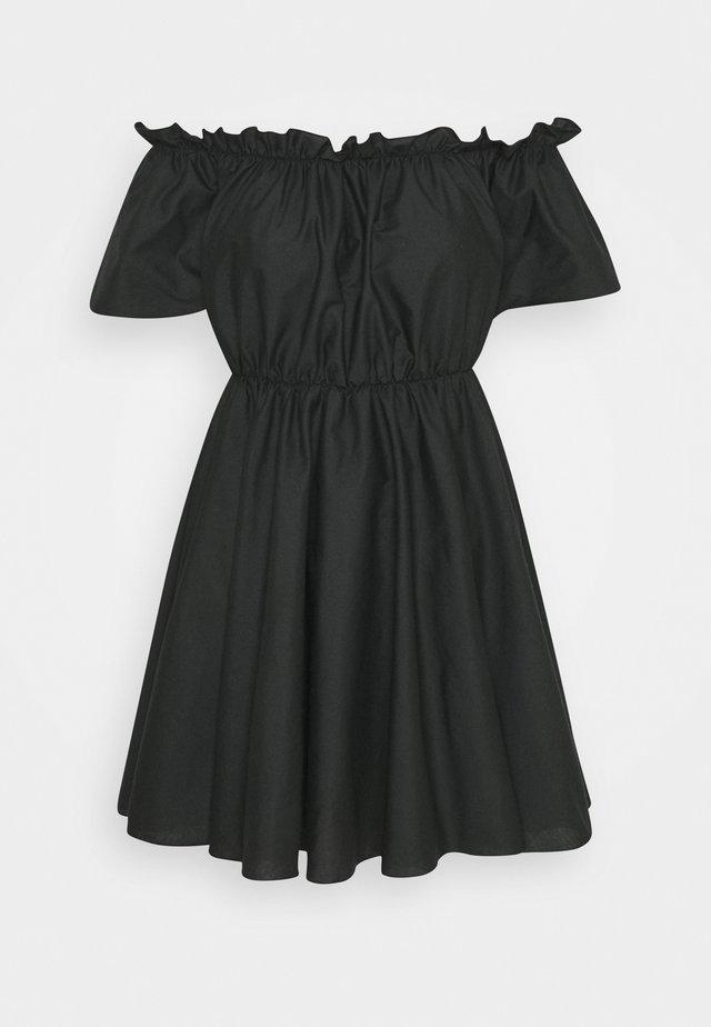 BARDOT SKATER DRESS - Denní šaty - black