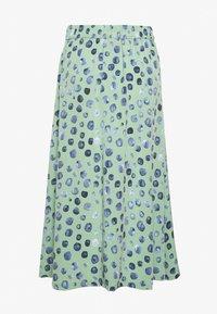 Monki - SIGRID SKIRT - A-line skirt - green/mintblue - 1