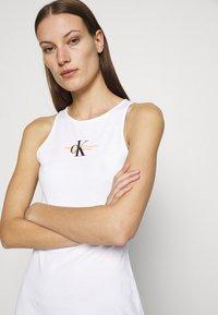 Calvin Klein Jeans - URBAN LOGO TANK DRESS - Jersey dress - bright white - 3