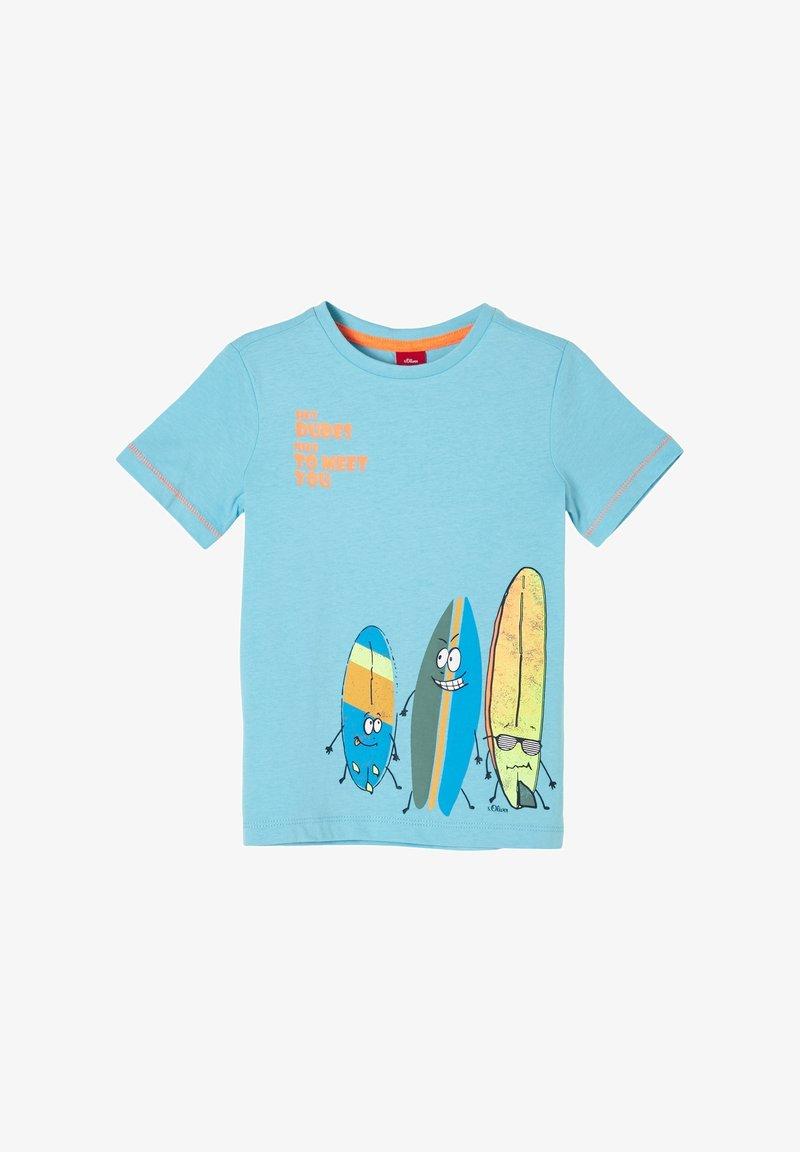 s.Oliver - MIT SURFER-MOTIV - Print T-shirt - aqua