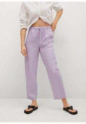 Bukser - světle/pastelově purpurová