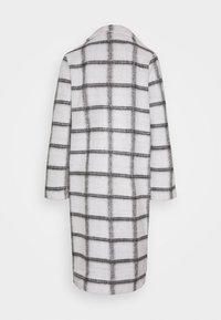 Vila - VIAMELINA COATIGAN - Classic coat - white alyssum/black - 1