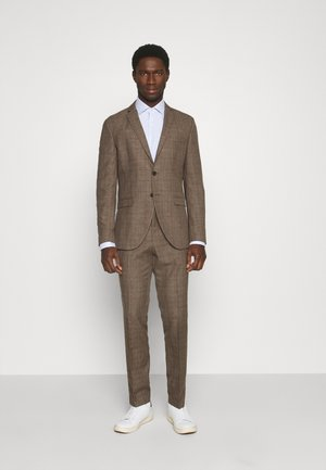 SLHSLIM MYLOLOGAN CROCUS SUIT - Kostym - brown sugar/red