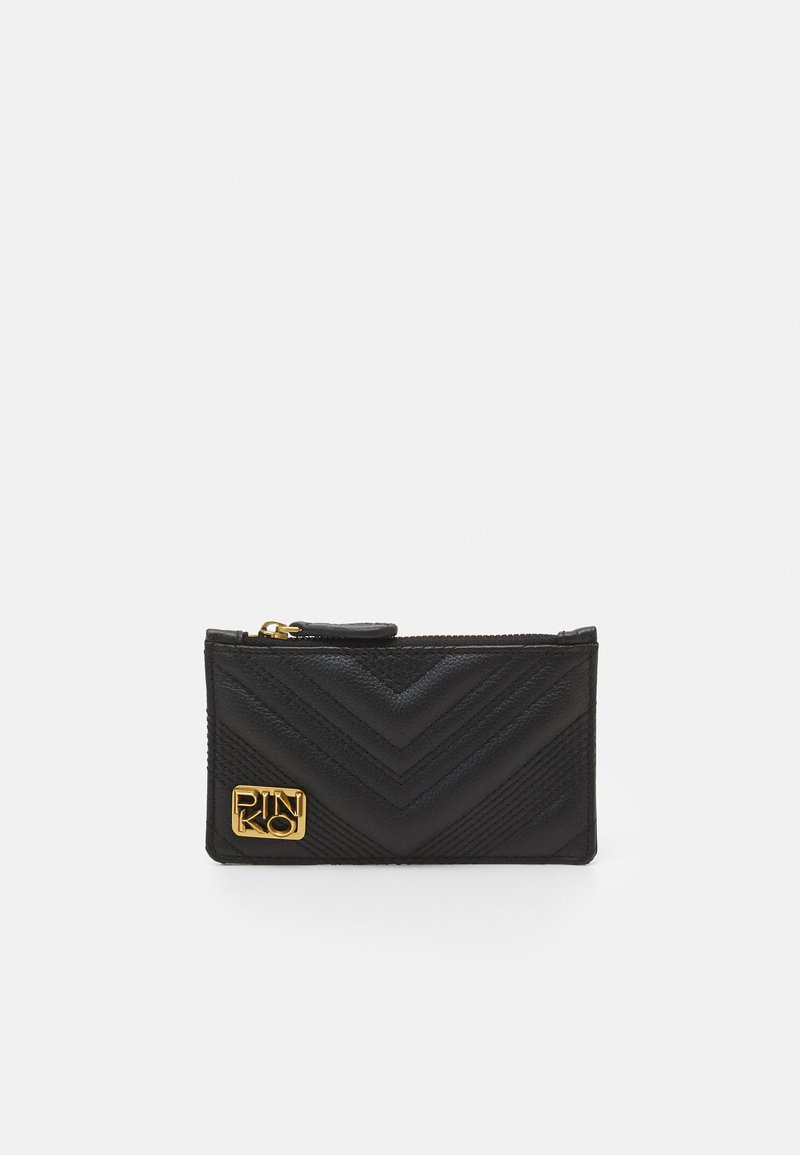 Pinko - AIRONE CREDIT CARD HOLDER QUILT - Peněženka - black