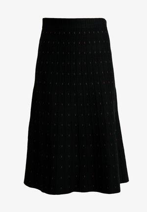 CLOE DOTS - A-line skirt - black