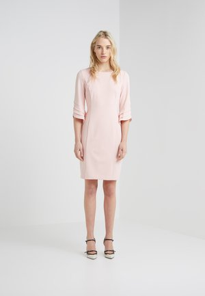 TRIPLE RUFFLE SLEEVE SHEATH - Shift dress - powder