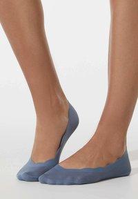 OYSHO - 2 PAIRS FLORAL - Trainer socks - blue - 2
