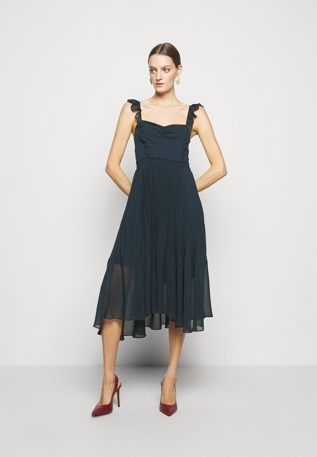 PLEATED FLOUNCE DRESS - Juhlamekko - blueberry
