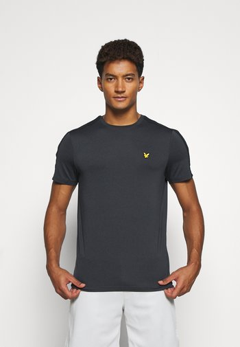 SLEEVE TAPE TEE - T-shirt - bas - true black