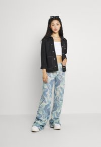 Jaded London - RUCHED JOGGER MARBLE - Joggebukse - blue mix - 1