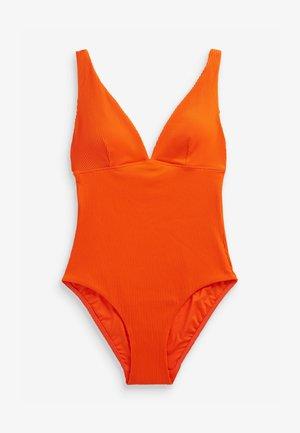 PLUNGE SHAPE - Swimsuit - orange