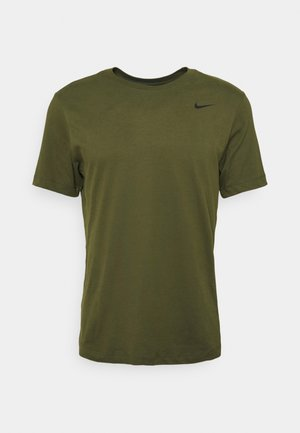 TEE CREW SOLID - Basic T-shirt - rough green/black