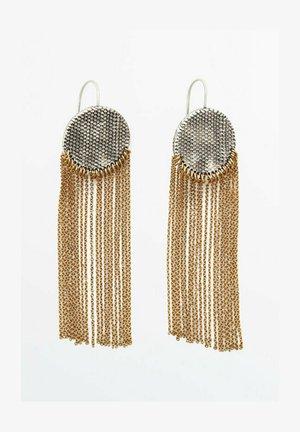 MIT KOMBINIERTEN QUASTEN  - Earrings - silver