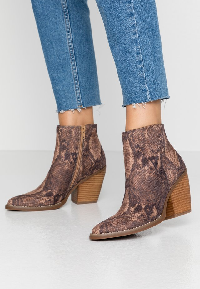 KLICCK - High heeled ankle boots - brown/multicolor