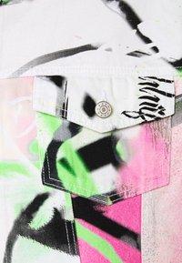Jaded London - SPRAY PAINT GRAFFITI - Denim jacket - white - 2