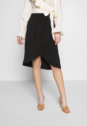VINAHLA SKIRT - Áčková sukně - black