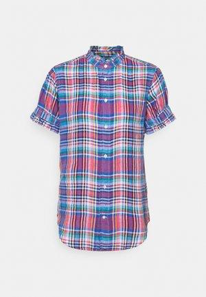 PLAID - Button-down blouse - pink/blue