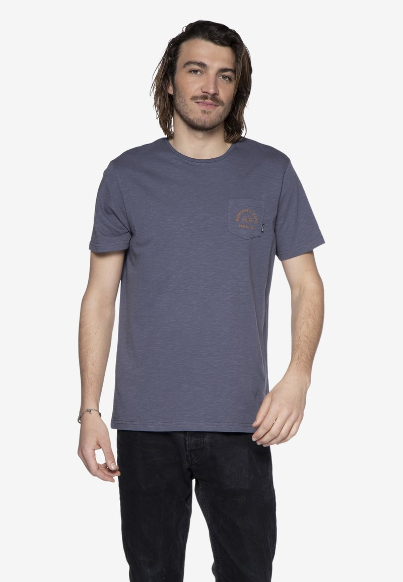 Protest - T-shirt print - mottled dark blue
