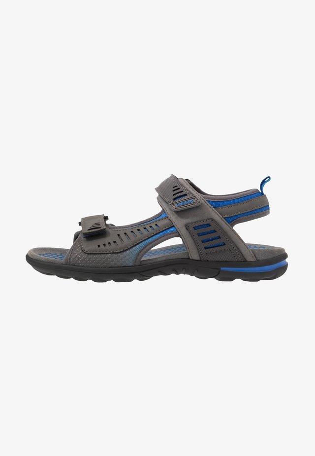 TEVERE - Vaellussandaalit - grey/blue