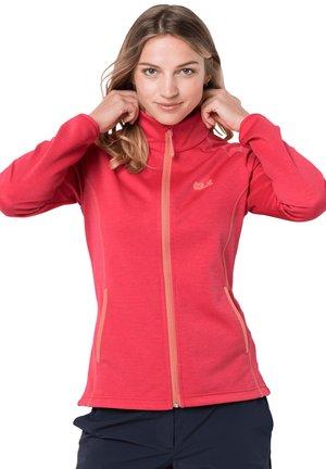 HORIZON - Fleece jacket - tulip red