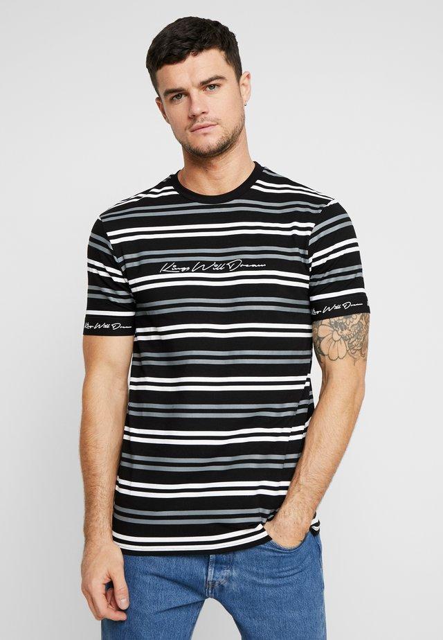 DIVISION HORIZONTAL STRIPE - Print T-shirt - black