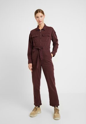 EASY UTILITY - Jumpsuit - plum