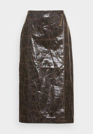 DELORES SKIRT - Pencil skirt - brown
