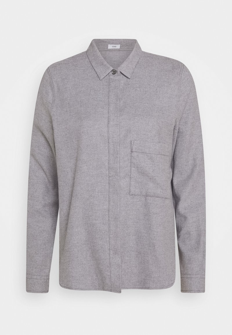 CLOSED - HAILEY - Button-down blouse - grey heather melange